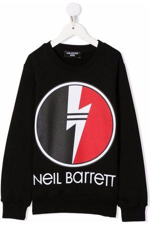 Neil Barrett Kids Drenge Sweatshirts - Logo print sweatshirt