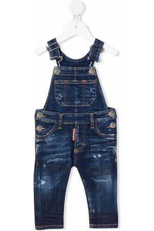 Dsquared2 Baby Overalls - Slim-fit denim dungarees