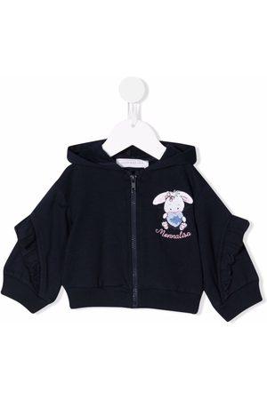 Monnalisa Logo zipped hoodie