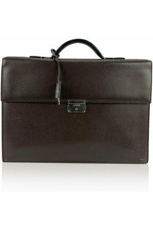 Loewe Pre-owned Textured Leather Briefcase Work Bag