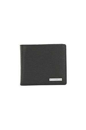 HUGO BOSS Mænd Punge - Italian-leather wallet with logo plate and coin pocket
