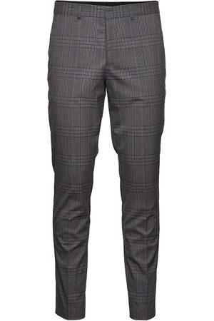 SELECTED Mænd Habitbukser - Slhslim-Timelogan Grey Mulchk Trs B Habitbukser Stylede Bukser
