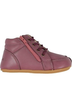 Bundgaard Lær-at-gå sko - Begyndersko - Prewalker ll Lace - Dark Rose