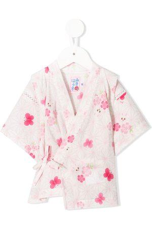 Miki House Piger Babysæt - Kimono-sæt med tryk