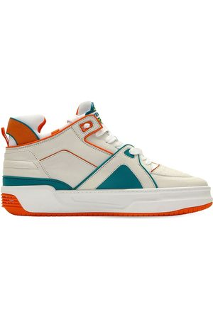 JUST DON Tennis Courtside Mid Leather Sneakers