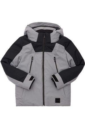 HUGO BOSS Drenge Vinterjakker - Logo Print Hooded Nylon Puffer Jacket