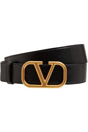 VALENTINO GARAVANI Mænd Bælter - 3.5cm V Buckle Leather Belt