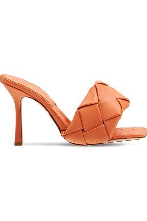 Bottega Veneta Kvinder Sandaler - 90mm Lido Woven Leather Slide Sandals