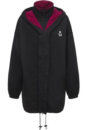 Isabel Marant Kvinder Jakker - Isla Logo Tech & Cotton Short Jacket