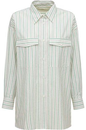 Isabel Marant Kvinder Langærmede skjorter - Ajady Cotton Poplin Striped Shirt