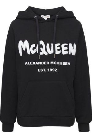 Alexander McQueen Kvinder Sweatshirts - Cotton Mcqueen Graffiti Hoodie