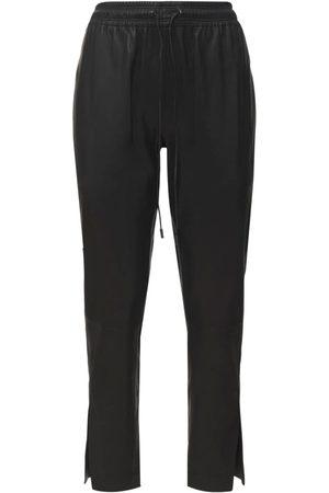 THEORY Leather Pants W/ Splits