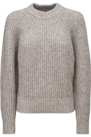 Isabel Marant Kvinder Strik - Rosy Fluffy Cotton Blend Knit Sweater
