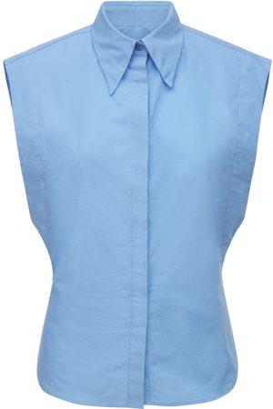 Isabel Marant Kvinder Langærmede skjorter - Renzae Sleeveless Poplin Shirt