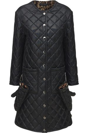 Dolce & Gabbana Long Nylon Quilted Coat