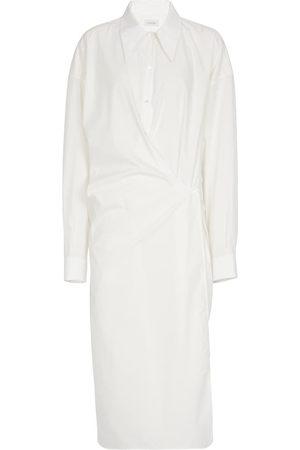 LEMAIRE Gathered cotton shirt dress