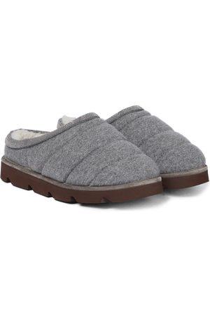 Brunello Cucinelli Kvinder Tøffler - Cashmere and shearling slippers