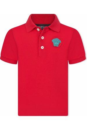 VERSACE Medusa-embroidered polo shirt