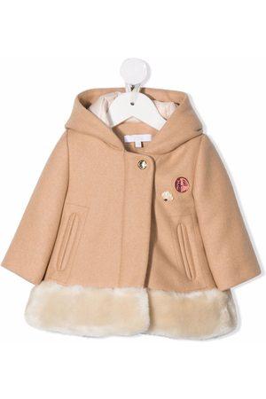 Chloé Frakke i filtet uld med hætte