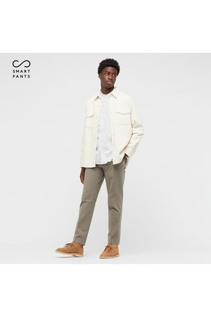 UNIQLO Mænd Chinos - Men Smart Cotton Stretch Ankle Length Trousers (Long)
