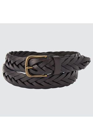 UNIQLO Leather Wide Mesh Belt