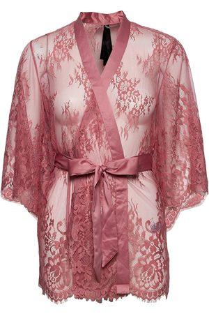 Hunkemöller Kimono Allover Lace Isabella Morgenkåbe Lyserød
