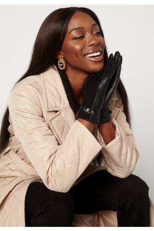 BUBBLEROOM Kvinder Handsker - Valorie leather gloves Black
