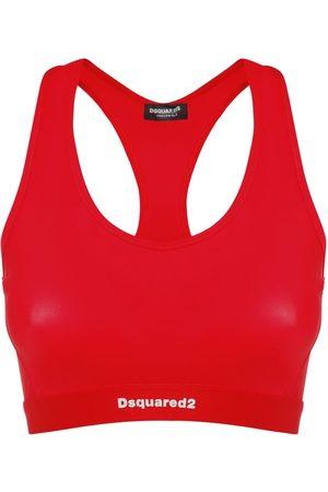 Dsquared2 Kvinder Toppe - Logo Intarsia Strech Crop Top