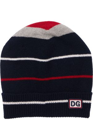 Dolce & Gabbana Drenge Huer - Intarsia Virgin Wool Knit Beanie