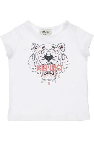 KENZO KIDS Tiger Print Organic Cotton T-shirt