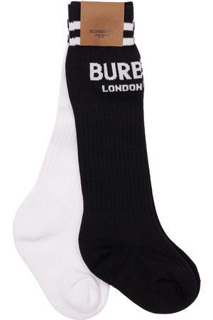 BURBERRY Set Of 2 Cotton Blend Knit Socks