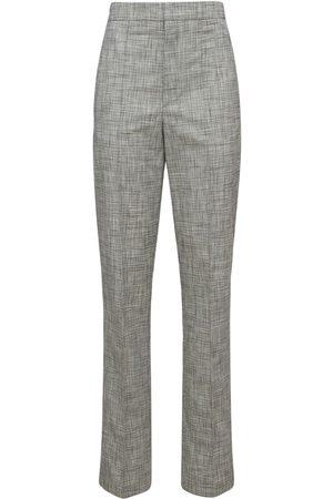 Isabel Marant Kvinder Habitbukser - Lirokia Checked Suit Cotton Pants