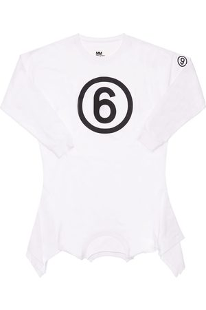 MM6 MAISON MARGIELA Logo Print Cotton Jersey Dress