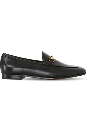 Gucci Kvinder Flade sko - 10mm Jordaan Horsebit Leather Loafers