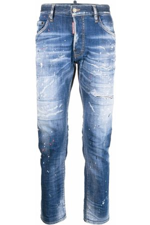 Dsquared2 Mænd Skinny - Skinny-jeans med malingssprøjt