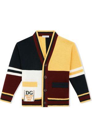 Dolce & Gabbana Cardigan i jomfru-uld med colourblocking