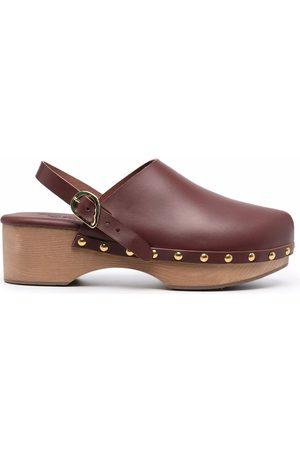 Ancient Greek Sandals Kvinder Træsko - Classic Closed 70mm studded clogs