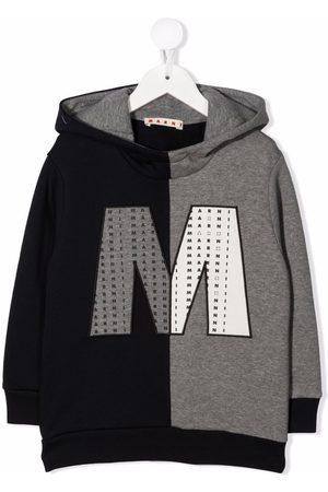 Marni Piger Sweatshirts - Colour-block logo patch hoodie