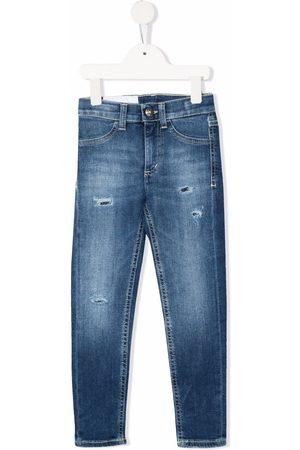 Dondup Piger Skinny - Distressed skinny-cut jeans