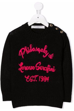 PHILOSOPHY DI LORENZO SERAFINI Piger Strik - Embroidered knit logo jumper
