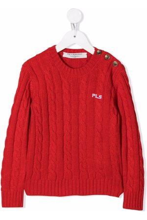 PHILOSOPHY DI LORENZO SERAFINI Embroidered cable-knit jumper
