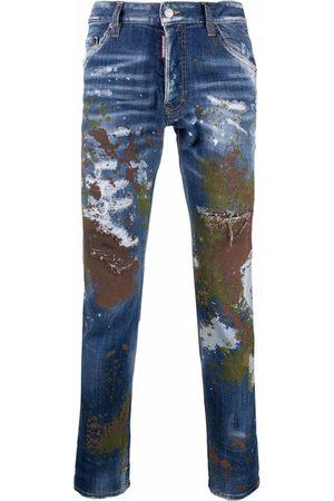 Dsquared2 Mænd Slim - Paint splatter-effect slim-fit jeans