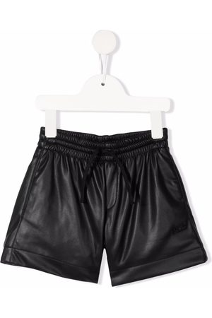 PHILOSOPHY DI LORENZO SERAFINI Piger Shorts - Faux-leather fitted shorts
