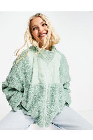 ASOS Mintgrøn fleece-jakke med kontrasterende panel