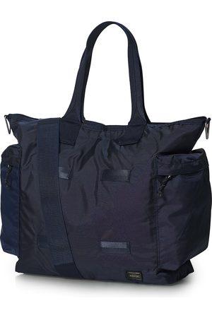 PORTER-YOSHIDA & CO Force 2Way Tote Bag Navy Blue