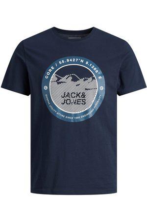 JACK & JONES Mænd Kortærmede - Drenge Rundt Logoprint T-shirt Mænd