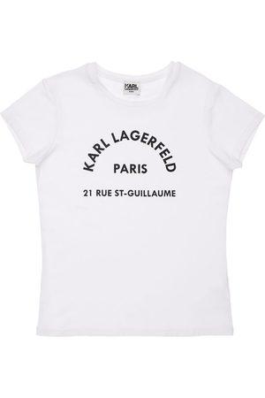 Karl Lagerfeld Piger Kortærmede - Logo Print Organic Cotton Blend T-shirt