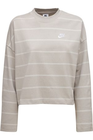 Nike Kvinder Toppe - Striped Cotton Top
