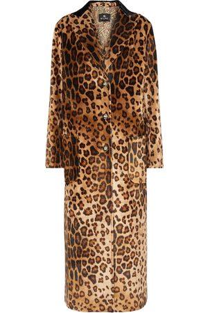 Etro Leopard-print velvet coat