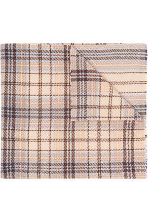 Acne Studios Tartan logo scarf